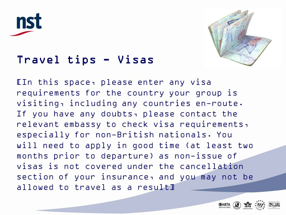 Travel tips - Visas