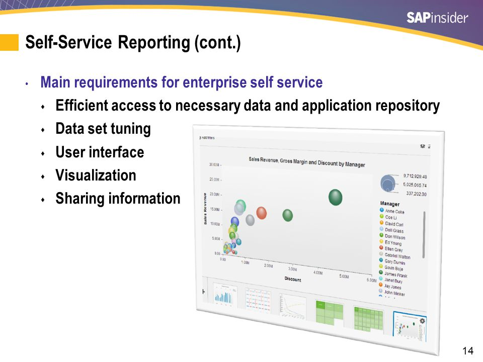 Self-Service Reporting Challenges
