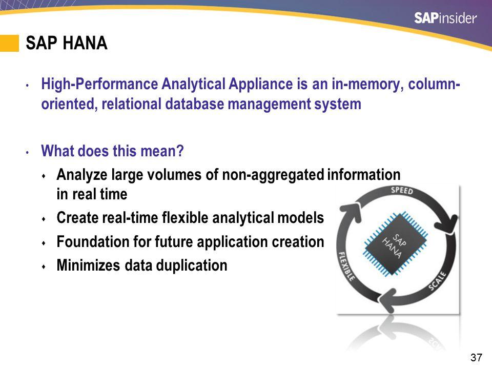 SAP HANA — Enterprise Version of the Truth