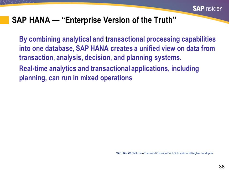 SAP HANA — Adoption Models