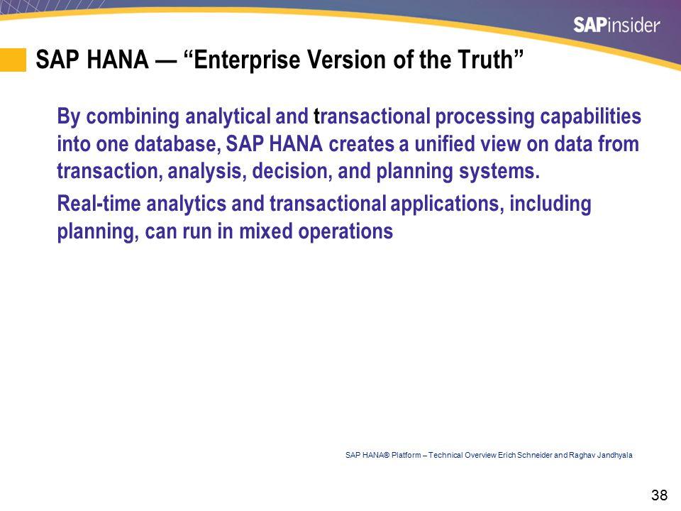 SAP HANA — Adoption Models