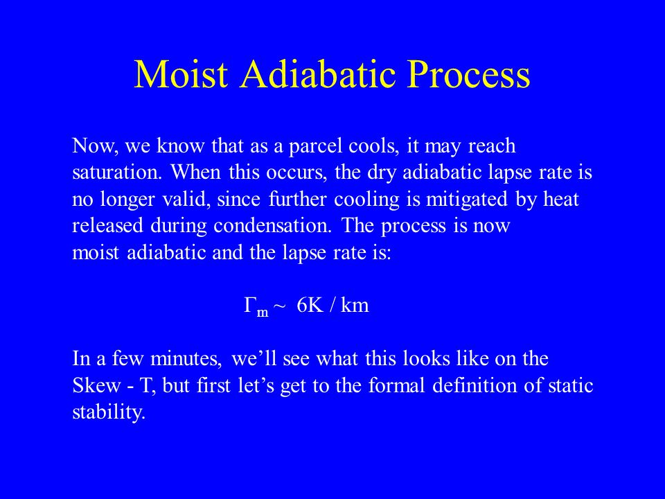 Moist Adiabatic Process