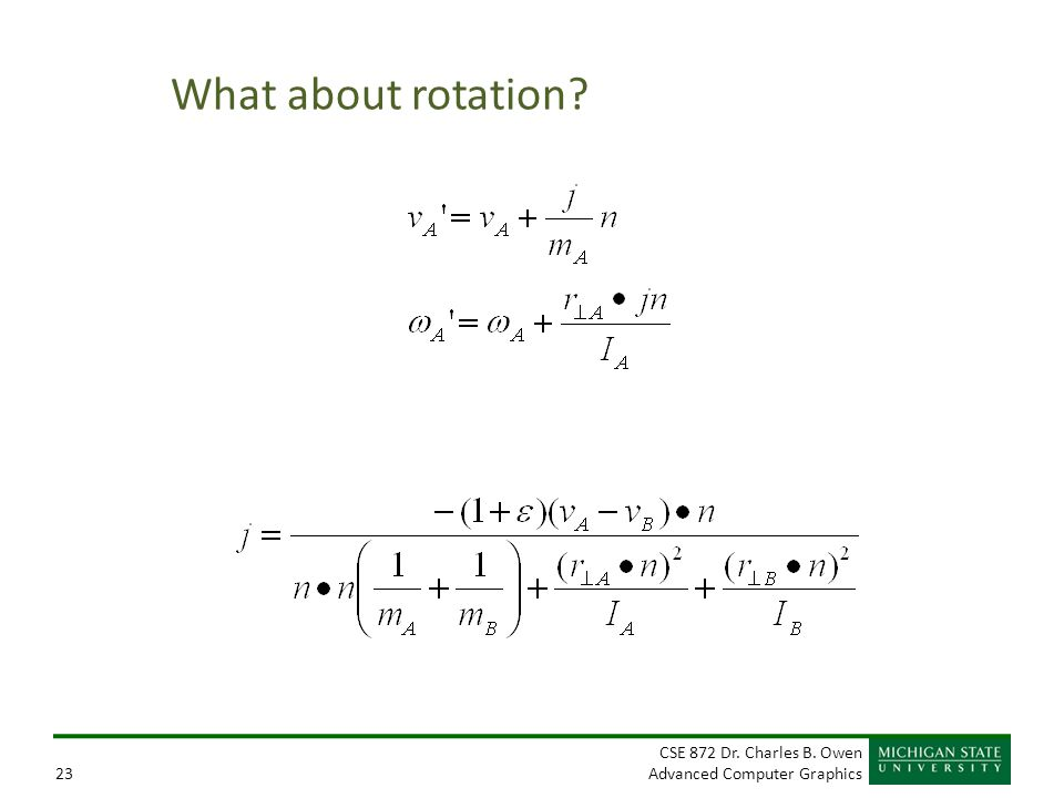 What about rotation