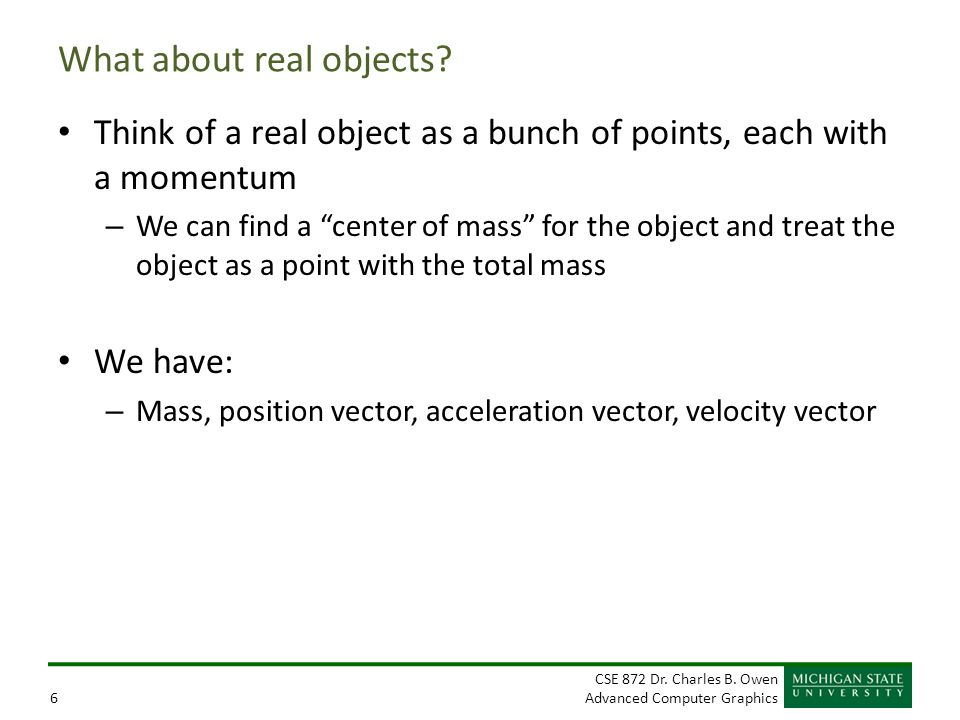 What about real objects