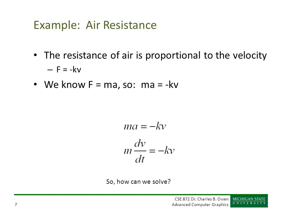 Example: Air Resistance