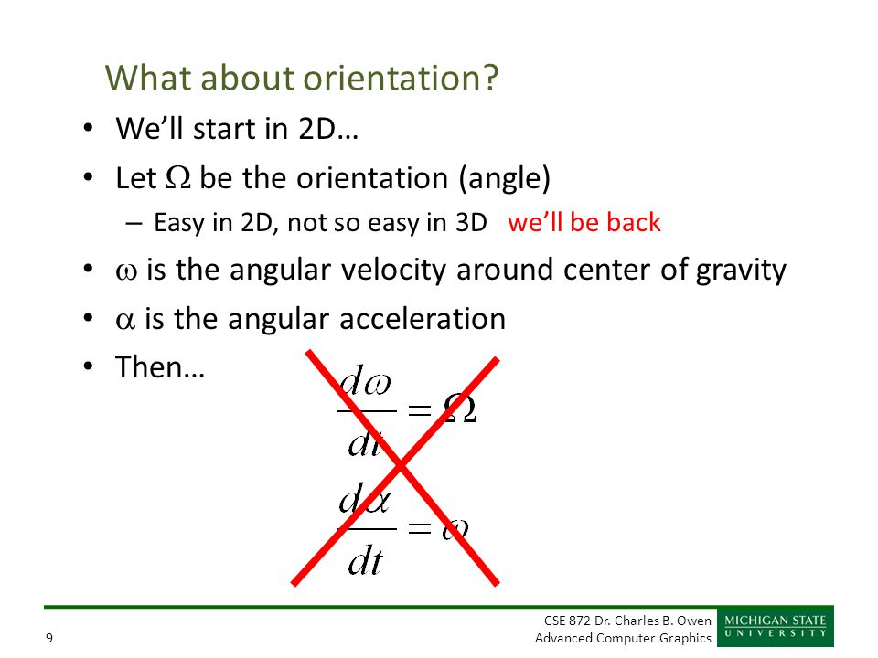 What about orientation