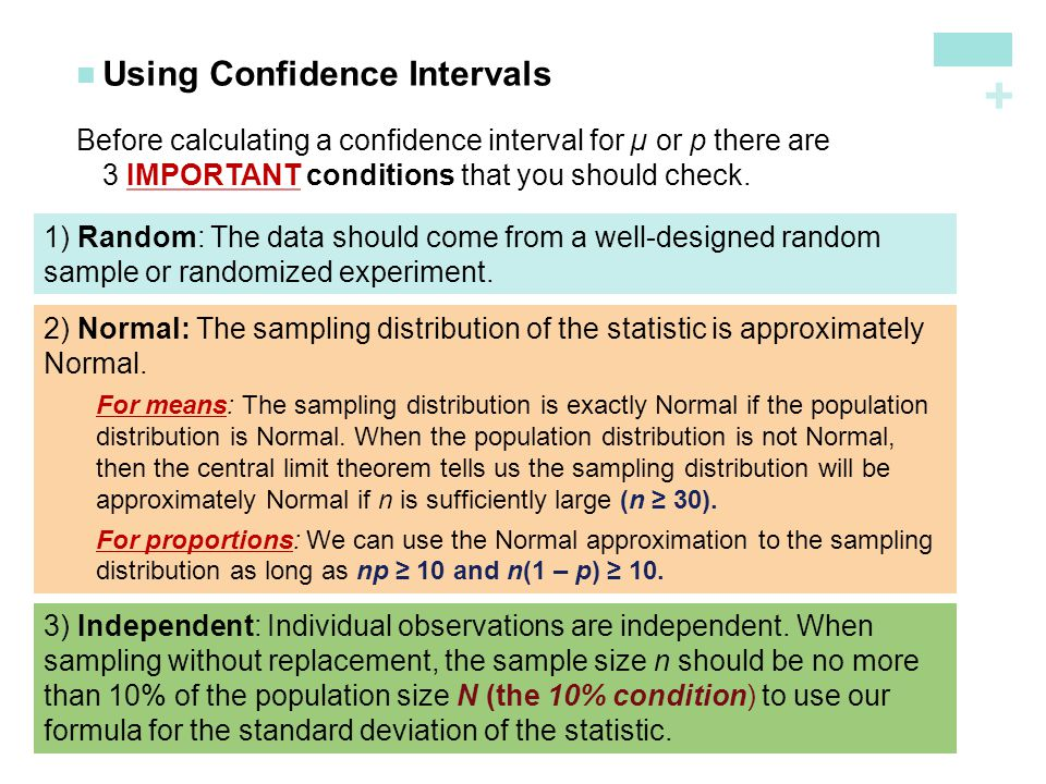 Using Confidence Intervals