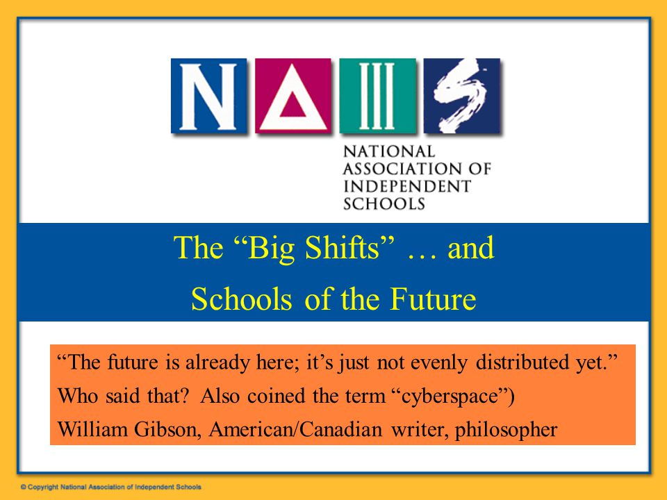 Patrick F. Bassett, NAIS President bassett@nais.org