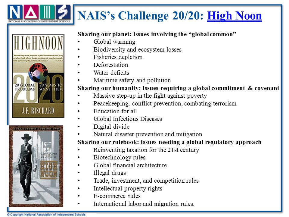 NAIS's Challenge 20/20: High Noon