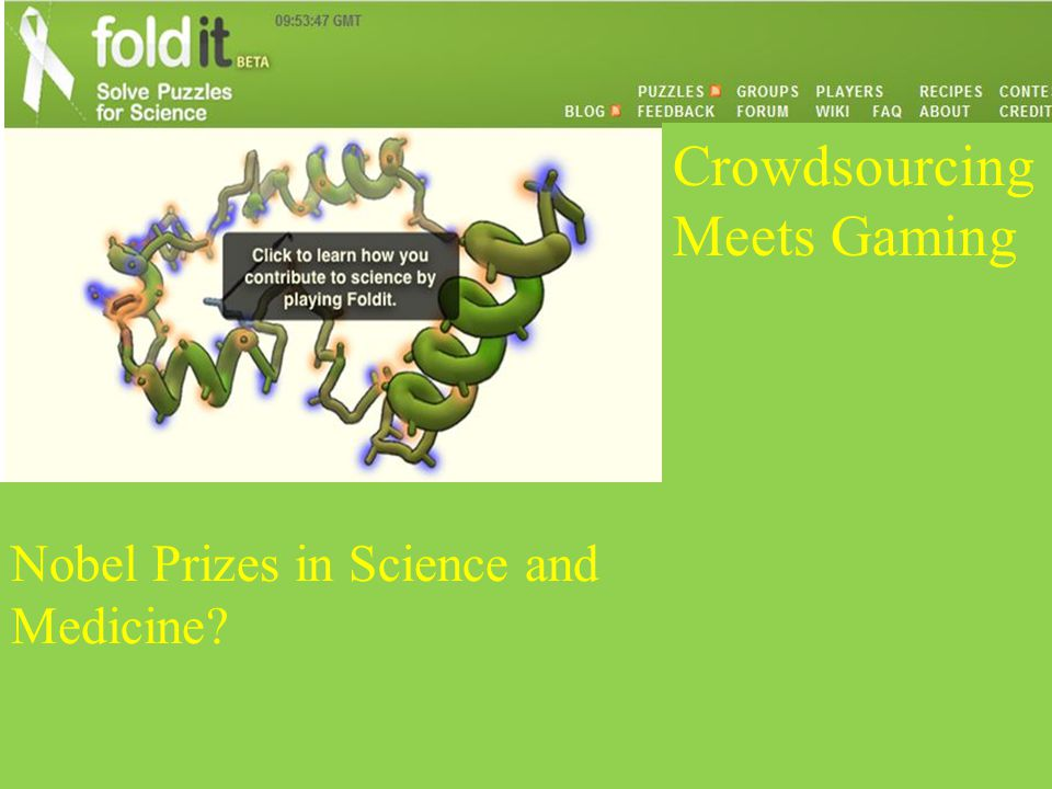 Crowdsourcing Meets Gaming