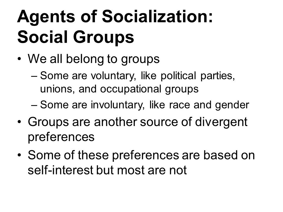 Agents of Socialization: Social Groups