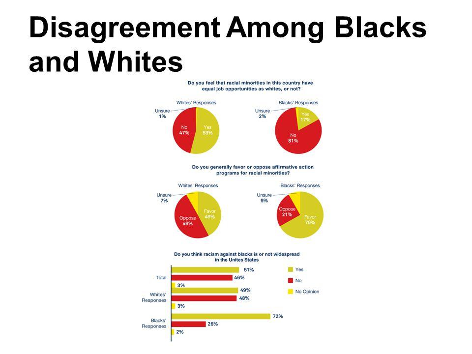 Disagreement Among Blacks and Whites