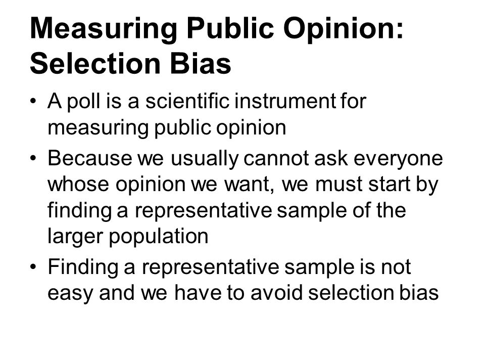 Measuring Public Opinion: Selection Bias