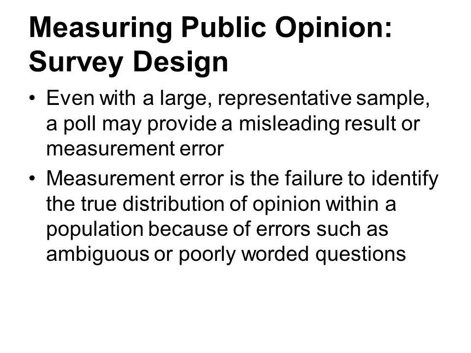Measuring Public Opinion: Survey Design