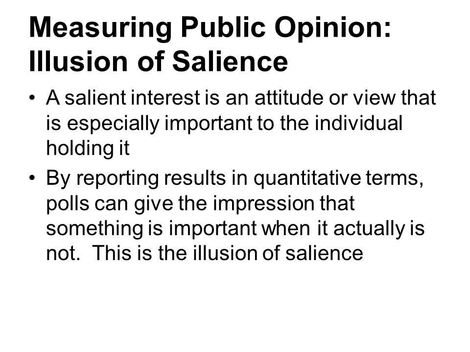 Measuring Public Opinion: Illusion of Salience