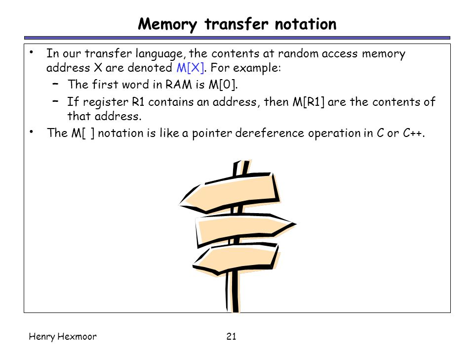 Memory transfer notation