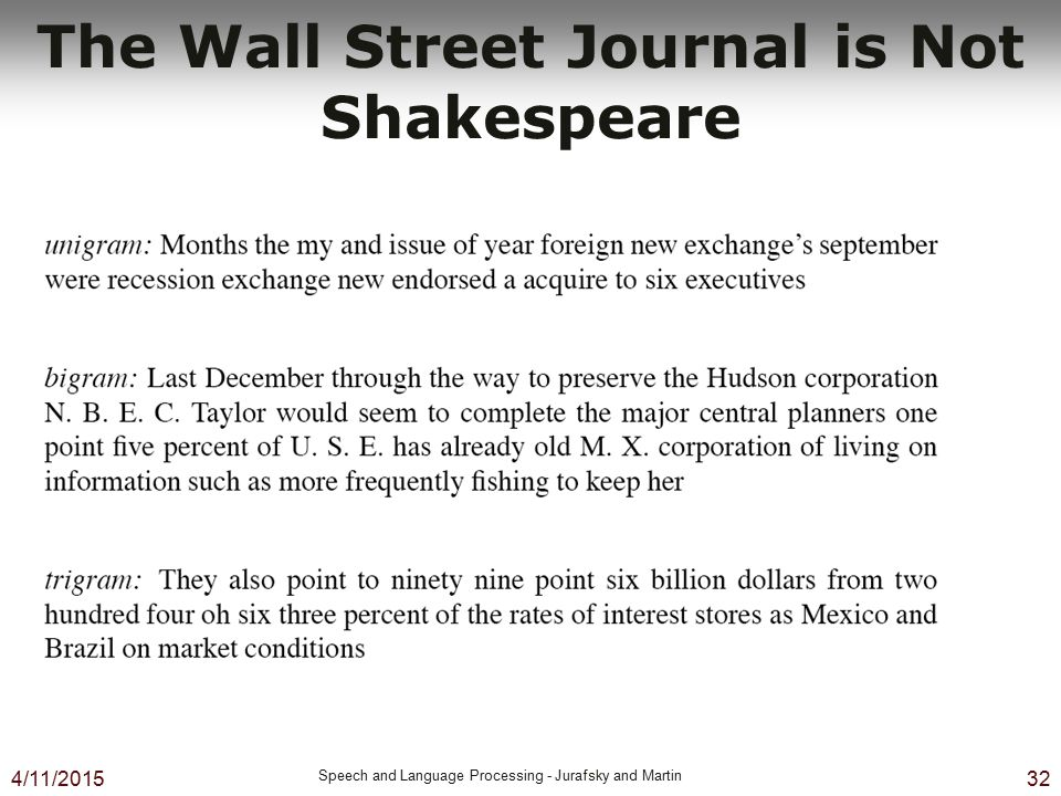 The Wall Street Journal is Not Shakespeare