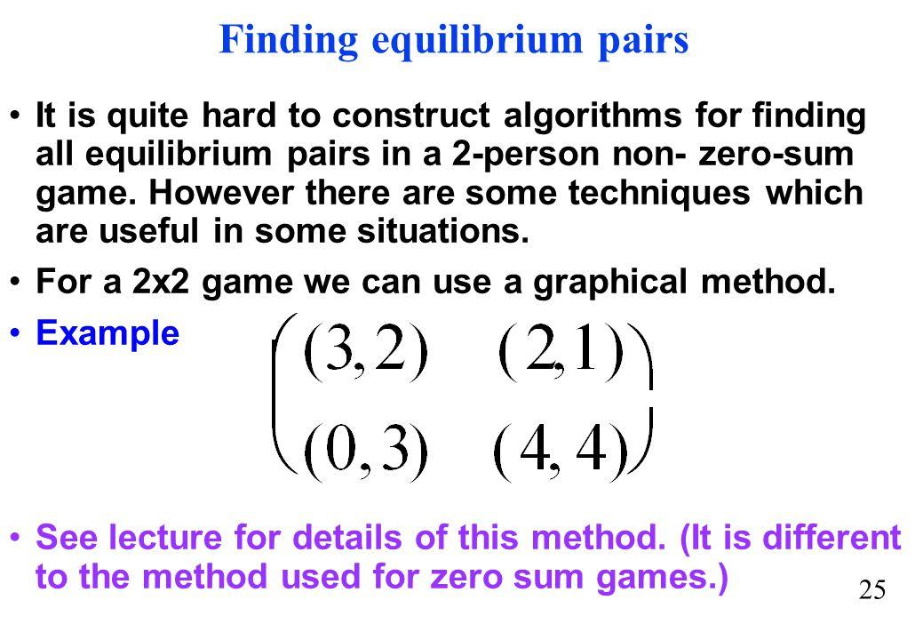 Finding equilibrium pairs