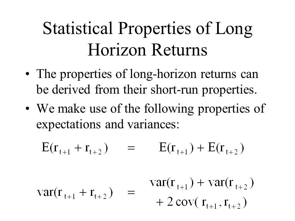 Statistical Properties of Long Horizon Returns