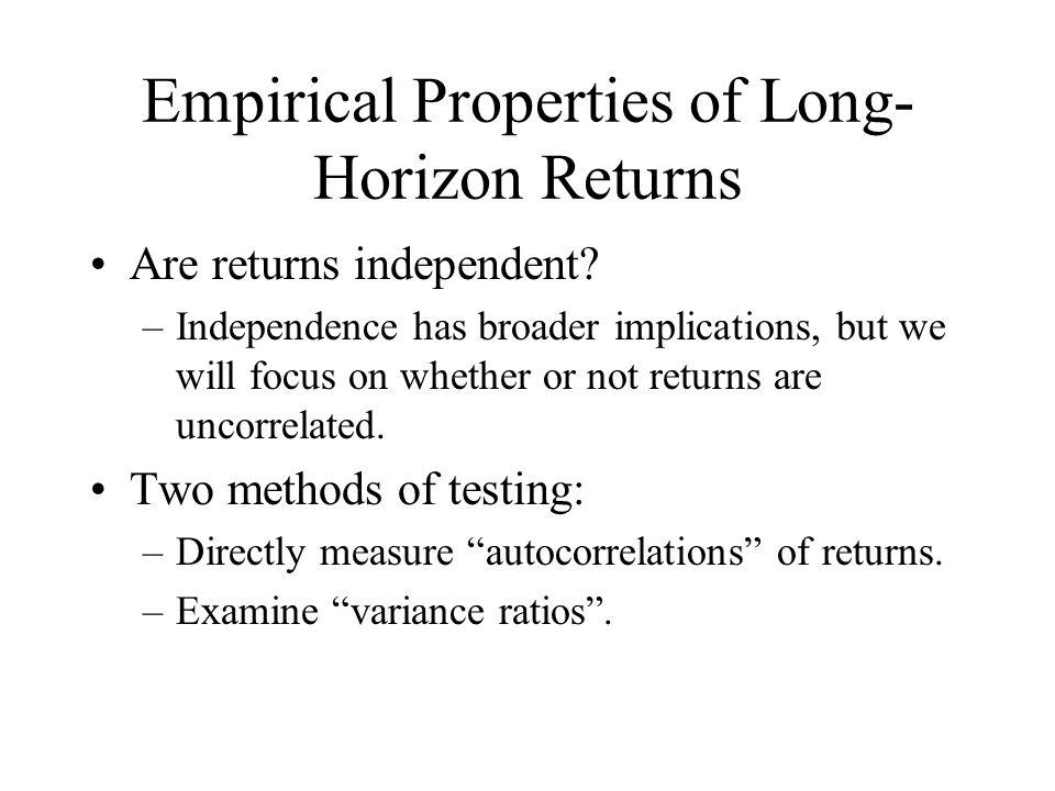 Empirical Properties of Long-Horizon Returns