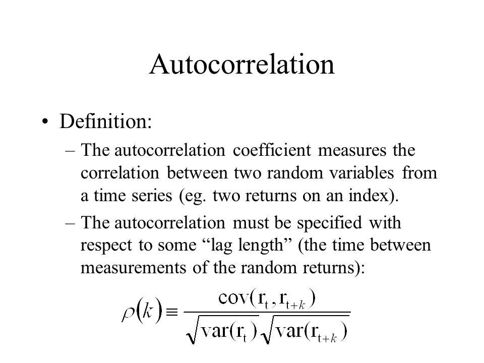 Autocorrelation Definition: