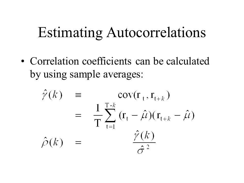 Estimating Autocorrelations