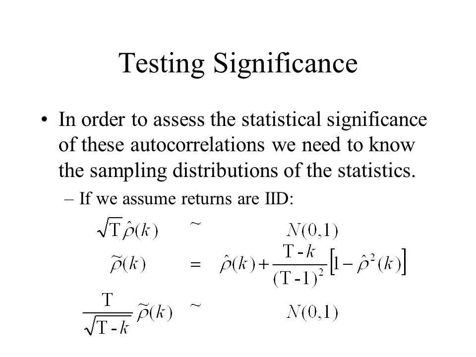 Testing Significance