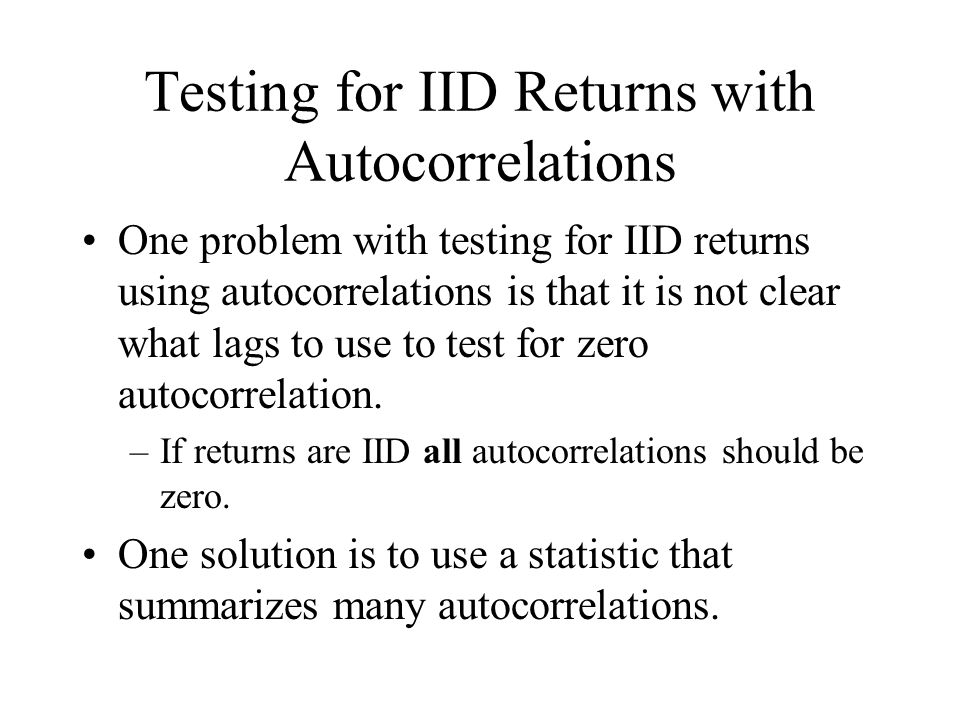 Testing for IID Returns with Autocorrelations