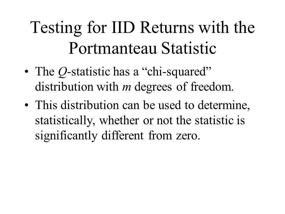 Testing for IID Returns with the Portmanteau Statistic