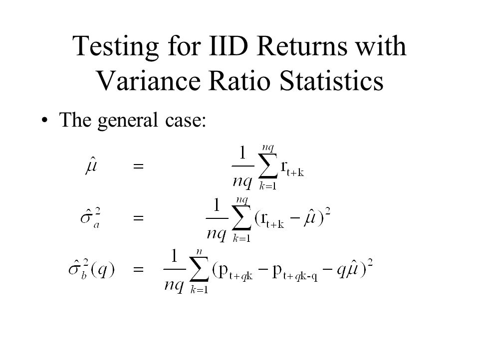 Testing for IID Returns with Variance Ratio Statistics