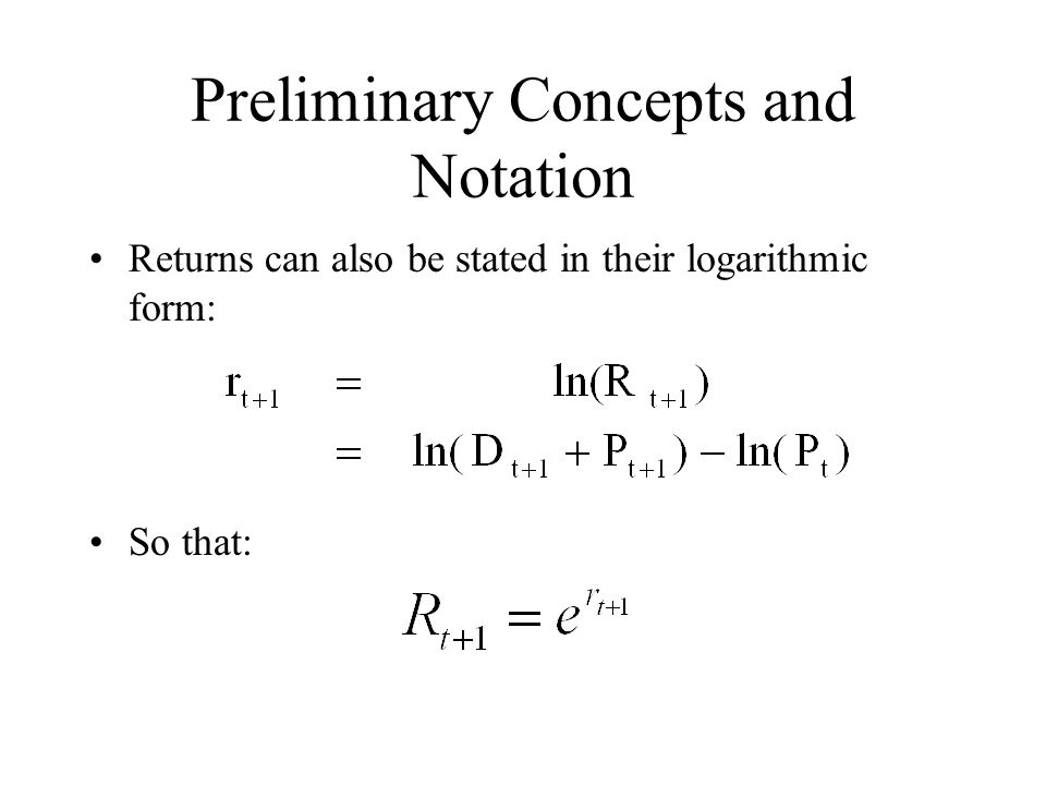 Preliminary Concepts and Notation