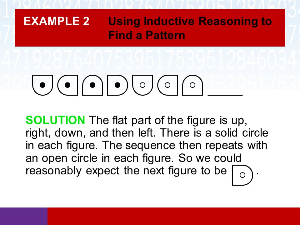 EXAMPLE 2 Using Inductive Reasoning to Find a Pattern
