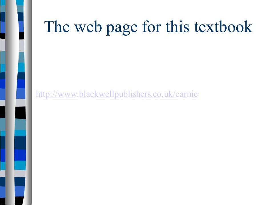 The web page for this textbook