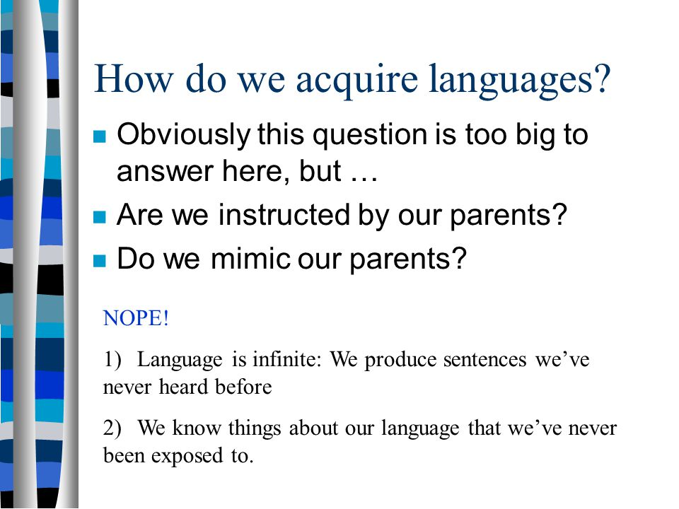 How do we acquire languages