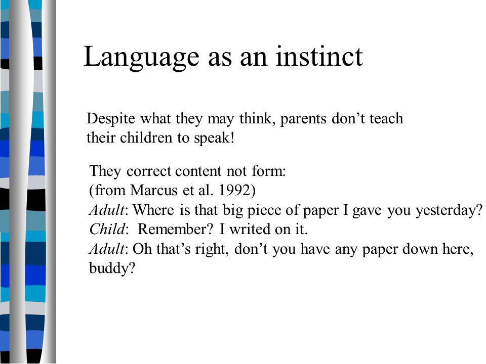 Language as an instinct