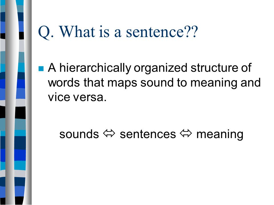 sounds  sentences  meaning