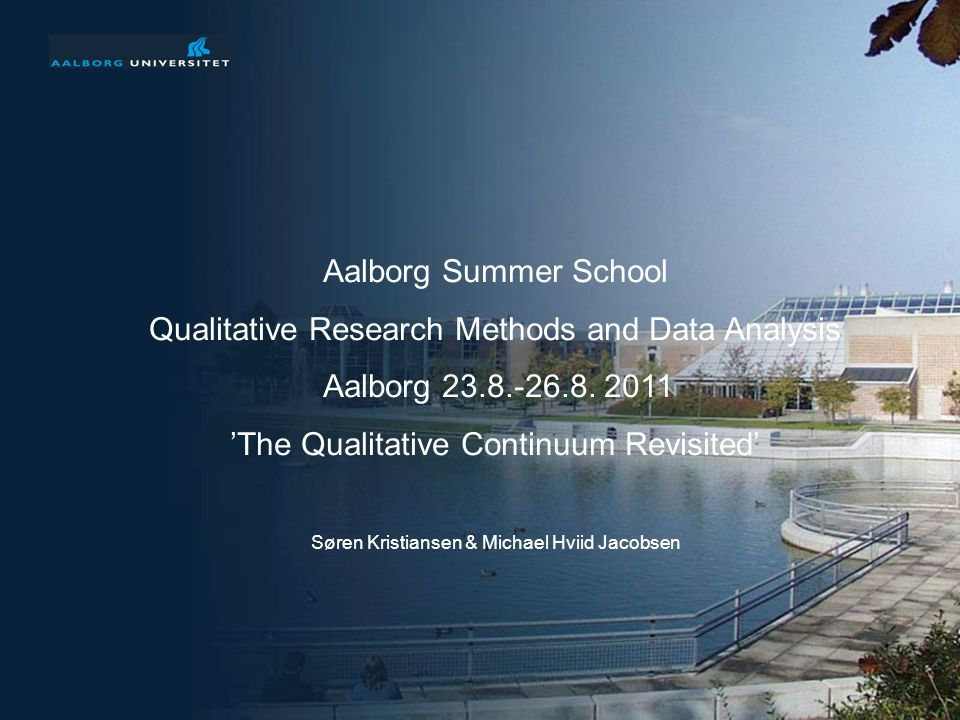 Qualitative Research Methods and Data Analysis