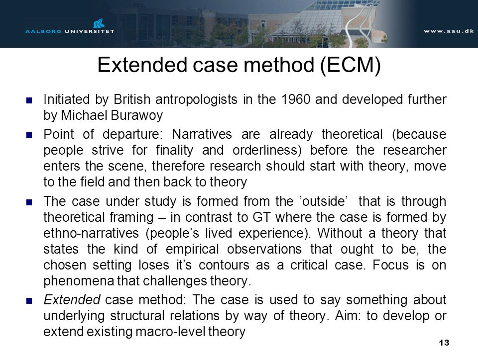 Extended case method (ECM)