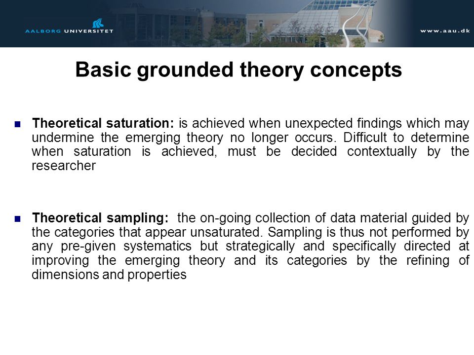 Basic grounded theory concepts
