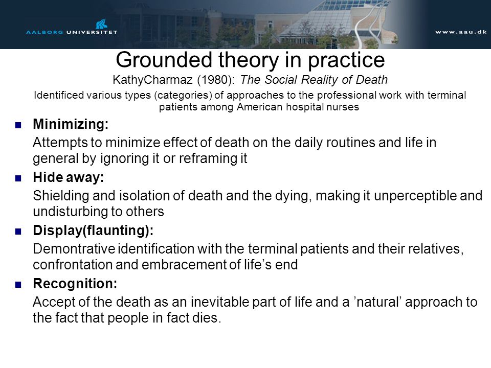 Grounded theory in practice