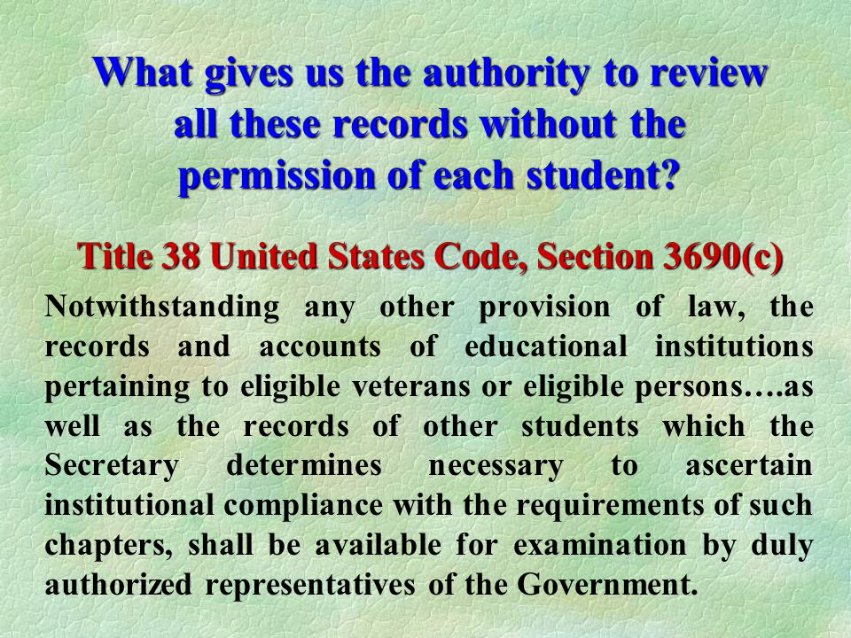 Title 38 United States Code, Section 3690(c)