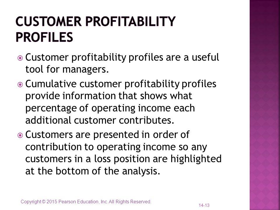 Customer profitability profiles