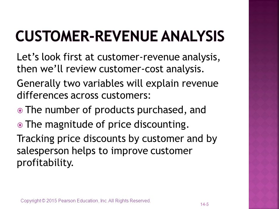 Customer-revenue analysis