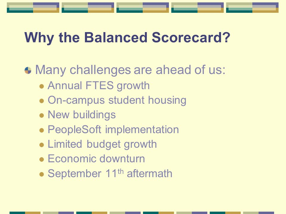 Why the Balanced Scorecard
