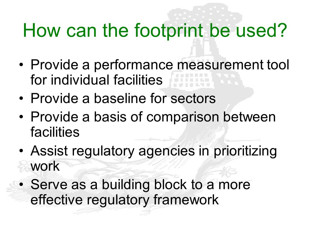 How can the footprint be used