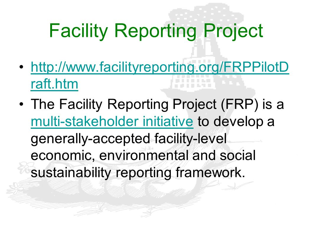 Facility Reporting Project
