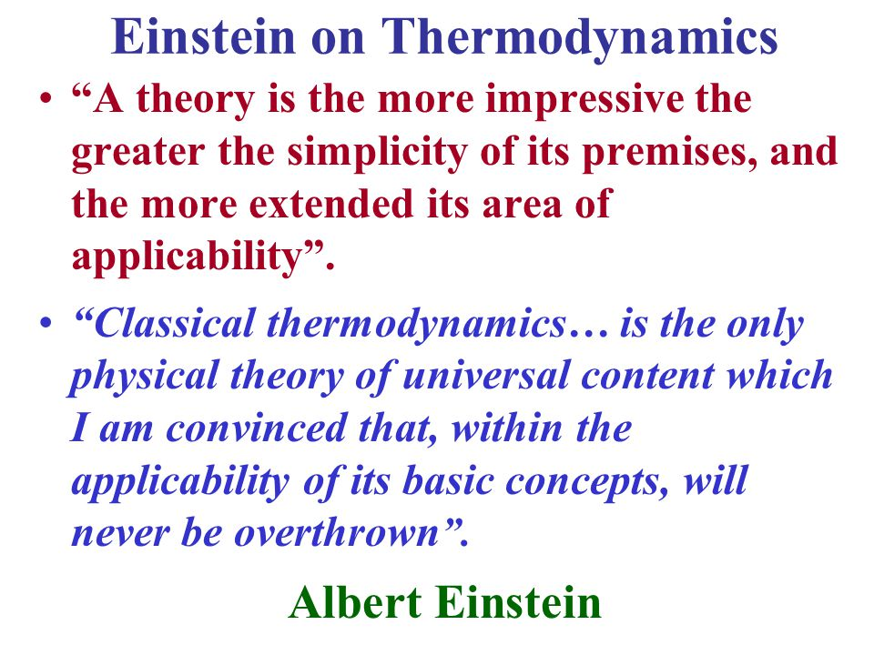 Einstein on Thermodynamics