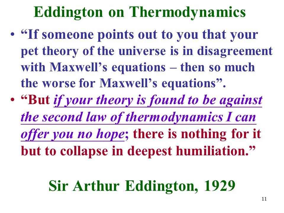 Eddington on Thermodynamics