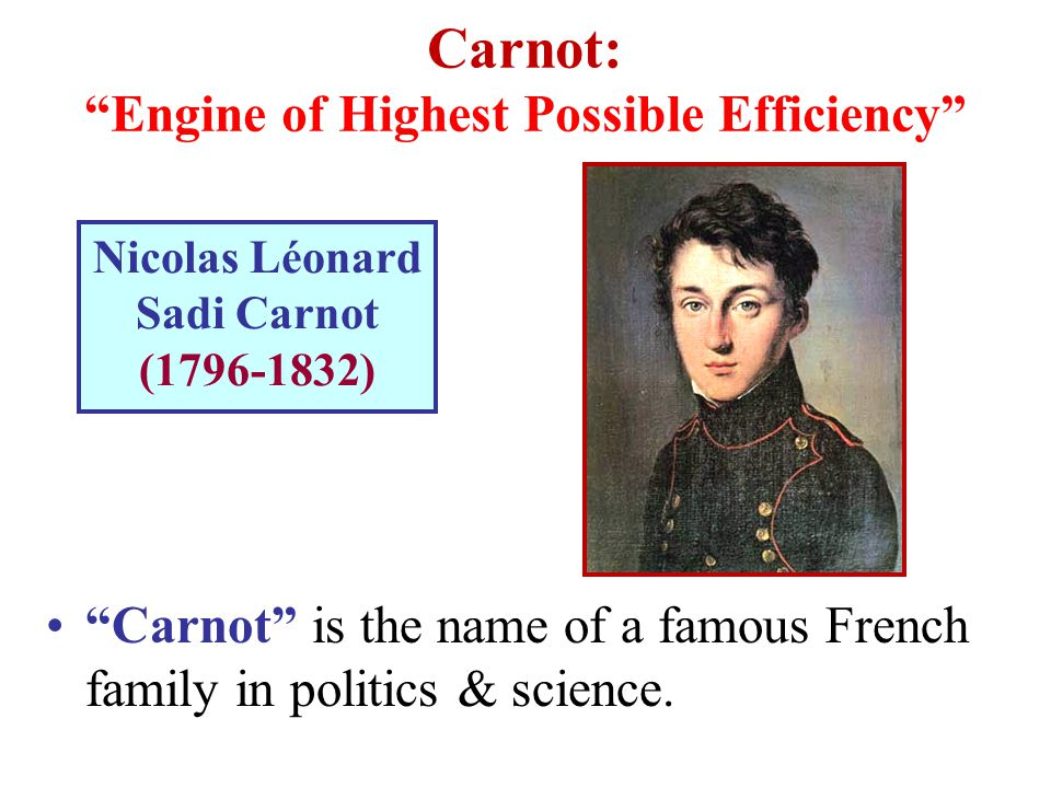 Carnot: Engine of Highest Possible Efficiency