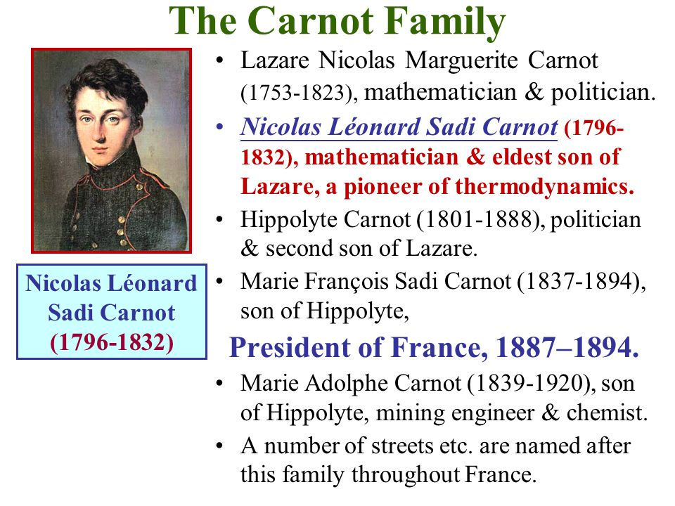 The Carnot Family President of France, 1887–1894.